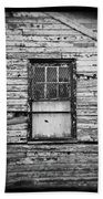 Peeling Wall And Cool Window At Fort Delaware On Film Beach Towel