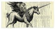 Pegasus Black And White Beach Towel