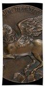 Pegasus Soaring Above Parnassus [reverse] Beach Towel