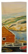 Peggys Cove  Harbor View Beach Towel