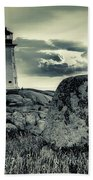 Peggys Cove Lighthouse Beach Towel