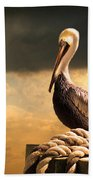 Pelican After A Storm Beach Towel