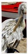 Pelican In Mykonos II Beach Towel