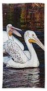 Pelican Love Beach Towel
