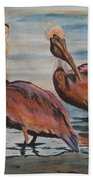 Pelican Party Beach Towel