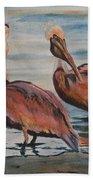 Pelican Party Beach Towel