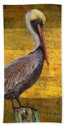 Pelican Poetry Beach Towel