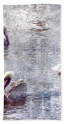 Pelicans At Rest Beach Towel
