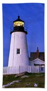 Pemaquid Point Lighthouse Maine Beach Towel