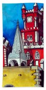 Pena Palace In Portugal Beach Towel