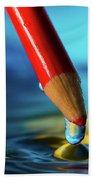Pencil Drip Beach Towel