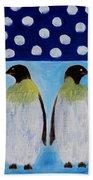 Penguins Talking Beach Towel