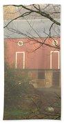 Pennsylvania German Barn In The Mist Beach Towel