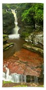 Pennsylvania Red Rock Falls Beach Towel