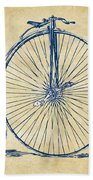 Penny-farthing 1867 High Wheeler Bicycle Vintage Beach Towel by Nikki Marie Smith
