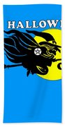 Pentacle Halloween Witch Beach Towel