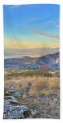 Penticton In The Distance Beach Towel