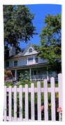 Peonies And Picket Fences Beach Sheet