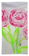 Peonies In Bloom Beach Towel
