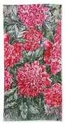 Peonies Love Beach Towel