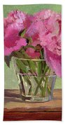 Peonies In Tumbler Beach Towel
