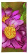 Peonies On Holiday Beach Towel