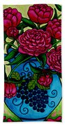 Peony Party Beach Towel