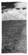 People On The Hill Bw Beach Towel