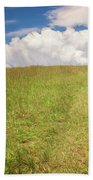 People On The Hill Painterly Beach Towel