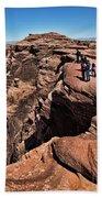 People View Horseshoe Bend Rock Edge  Beach Sheet