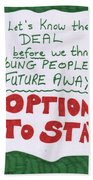 People's Vote Option To Stay Young People Need A Future Beach Sheet