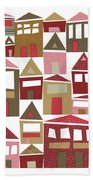 Peppermint Village Beach Towel