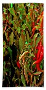 Peppers - Red Beach Towel