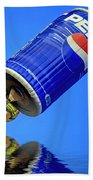 Pepsi Can Hot Air Balloon At Solberg Airport Reddinton  New Jersey Beach Towel