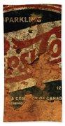Pepsi Cola Vintage Sign 5b Beach Sheet