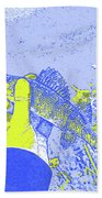 Perch Blue Yellow Beach Towel