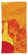 Perch Red Yellow Beach Towel