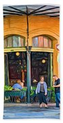 Pere Antoine Restaurant - Paint Beach Towel