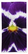 Perfectly Pansy 01 Beach Towel