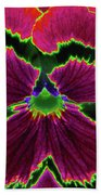 Perfectly Pansy 01 - Photopower Beach Towel