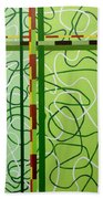 Peridot Party Beach Towel
