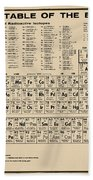 Periodic Table Of Elements In Sepia Beach Towel