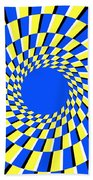 Peripheral Drift Illusion  Beach Towel