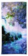 Fantasy Garden Path Periwinkle Beach Towel