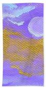 Periwinkle Moon Beach Towel