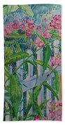 Perky Pink Phlox In A Dahlonega Garden Beach Towel