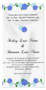 Personalized Wedding Invitations Beach Towel