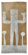 Personnage With Two Trees Beach Towel