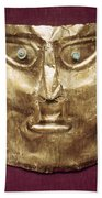 Peru: Chimu Gold Mask Beach Towel