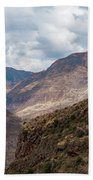 Peruvian Mountains From Pisac Site Beach Towel